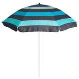 Blue striped beach umbrella Stock Photography