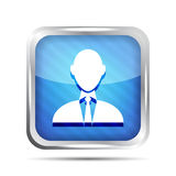 Blue striped businessman icon Royalty Free Stock Images