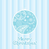 Blue striped Christmas background Stock Image