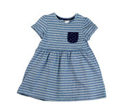 Blue striped dress, isolate Royalty Free Stock Photo