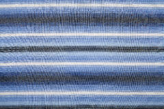 Blue striped fabric Royalty Free Stock Images