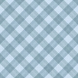 Blue Striped Gingham Tile Pattern Repeat Background. That is seamless and repeats Stock Photos