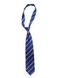 Blue striped necktie Royalty Free Stock Photography