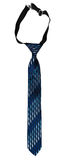 Necktie blue striped Stock Photo