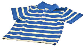 Blue Striped Polo Shirt Royalty Free Stock Photo