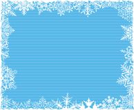 Blue Striped Snowflake Background. Blue Striped Snowflake Border Background Royalty Free Stock Photos