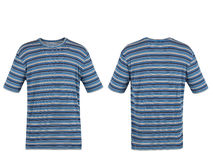 Blue striped t-shirt Royalty Free Stock Images