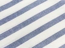 Blue striped tablecloth Royalty Free Stock Image