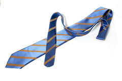 Blue striped tie Stock Images