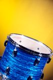 Blue Striped Tom Drum Stock Images
