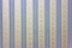 Blue striped wallpaper Stock Photos