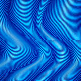 Blue striped waves 3d abstract background Stock Photo