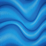 Blue striped waves 3d abstract background Stock Photography