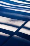 Blue striped white snow - shadow Royalty Free Stock Photo