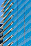 Blue Striped Windows with White Corners Stock Photos