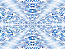 Blue stripes mandala. Abstract mandala in blue and white color Royalty Free Stock Image
