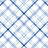 Blue Stripes Plaid Royalty Free Stock Photos