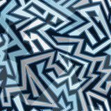 Blue stripes seamless pattern Stock Image