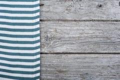 Blue stripes textile, napkin, tablecloth Royalty Free Stock Photo