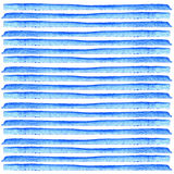 Blue stripes on white background watercolor painting. Abstract hand painted strips. Retro style. Element design for posters, stick Royalty Free Stock Photos
