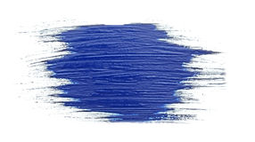 Blue stroke of the paint brush Royalty Free Stock Image
