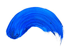 Blue stroke. Of the paint brush isolated on white Royalty Free Stock Photos