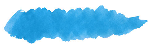 Blue stroke of paint brush Royalty Free Stock Photography