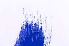 Blue stroke of the paint brush Royalty Free Stock Photo
