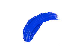 Blue stroke of the paint brush Royalty Free Stock Images