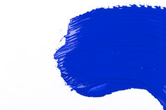 Blue stroke of the paint brush Royalty Free Stock Photography