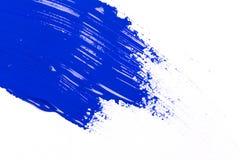 Blue stroke of the paint brush Stock Photo
