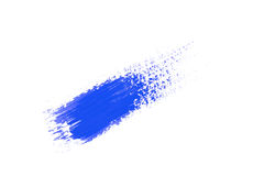 Blue stroke of the paint brush Stock Photography