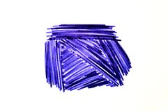 Free Blue Strokes Marker On A White Background Royalty Free Stock Photos - 170322018