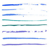 Blue strokes of paint Royalty Free Stock Photo