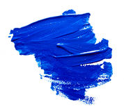 Blue strokes of the paint brush isolated Stock Image