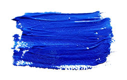 Blue strokes of the paint brush  Stock Image
