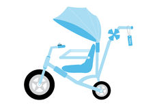 Blue stroller carriage,Vector illustrations Stock Images