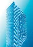 Blue structure abstract. Design, vector illustration with layers Stock Image