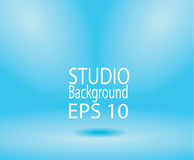 Blue studio room backdrop background soft light. Mock up templat Stock Images