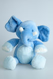 Blue stuffed elephant Stock Photography