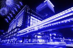 Blue style Night scenes of the Taipei city, Taiwan Stock Photos