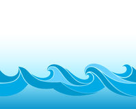 Blue stylized waves. On a light background Royalty Free Stock Photos