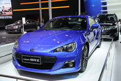 Blue subaru BRZ Stock Images