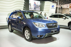 Blue subaru forester car Royalty Free Stock Images