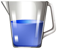 Blue substance in glass beaker Royalty Free Stock Image