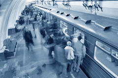 Free Blue Subway Crowd Royalty Free Stock Photography - 1779347