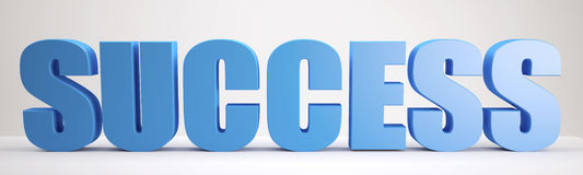 Blue Success sign Royalty Free Stock Photo