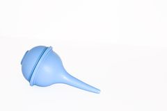 Blue suction bulb. Against white background Stock Image