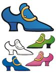Blue Suede Shoe and others Stock Photography