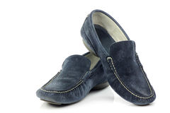 Blue suede shoes Stock Photography